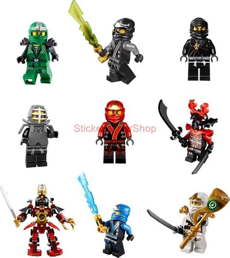 Ninjago Aufkleber Mit Namen by Ninjago Lego 9 Characters Decal Removable Wall Sticker