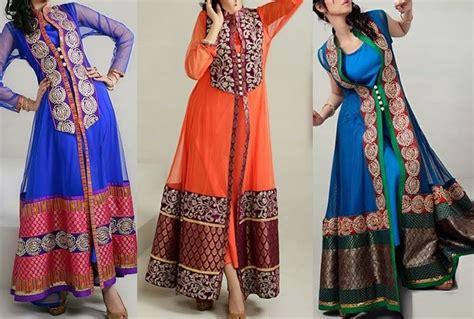 2015 new indian long shirt dresses stylish double open shirt long tail gown frock plazo dress