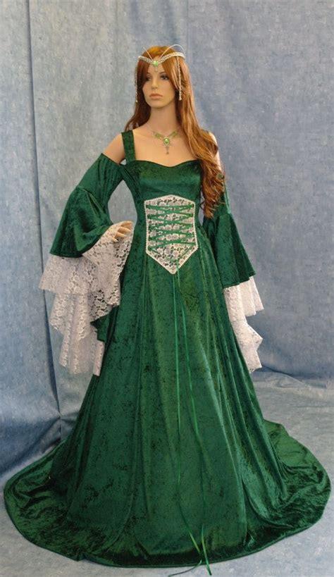 Medieval Wedding Dresses Renaissance Medieval Handfasting Wedding Fantasy Celtic Dress Custom