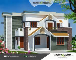2960 sq ft 4 bedroom indian house design front view