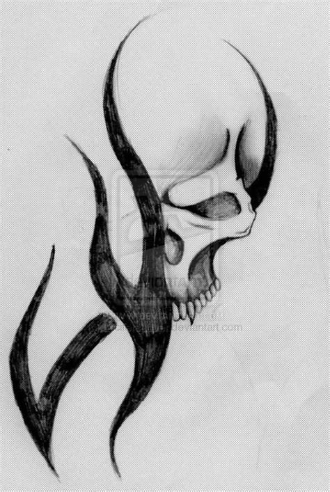 tribal and skull tattoo designs 40 tribal skull tattoos ideas