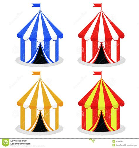 Vector Clip Of A Set Of Different Colored Circus Tent Vector Stock Photos Image 30289733