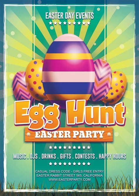 easter flyer template easter day egg hunt free flyer template