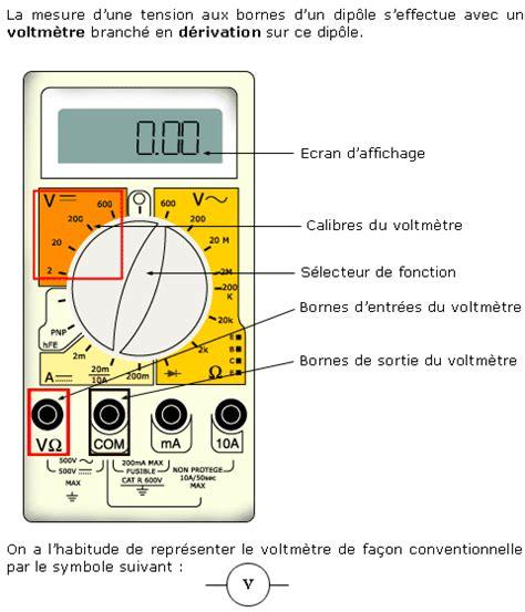 test de diode avec multimetre cours de utilisation d un multim 232 tre maxicours