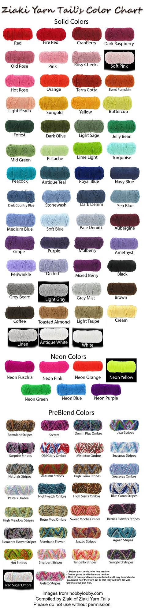 love the color guide can use for my uppercaseliving ziaki yarn tails color chart by serenitymoonwolf on deviantart