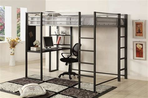 black loft bed with desk black loft bed with desk style meets function homesfeed