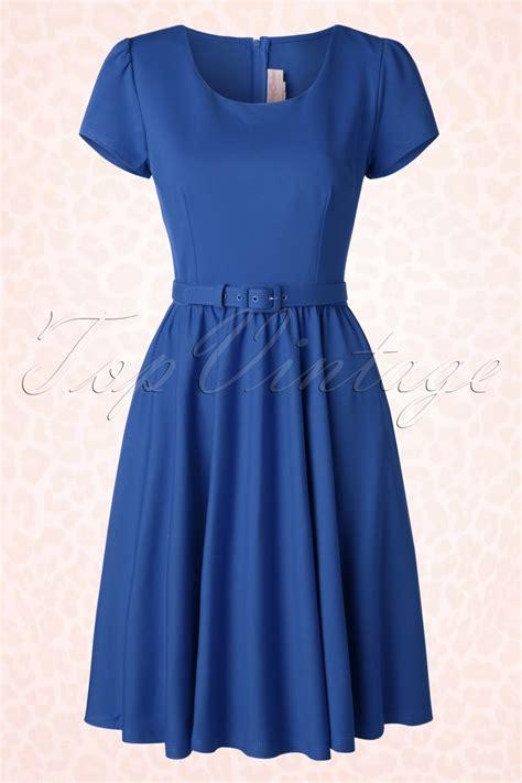 swing 50s 50s swing dress in royal blue
