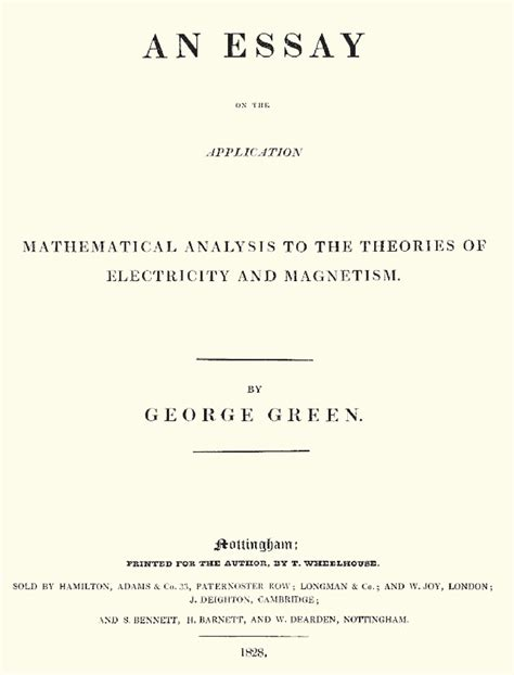 thesis title about mathematics education an essay on the application of mathematical analysis to