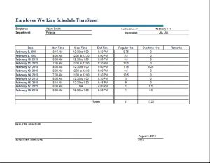 timecard template excel   template business