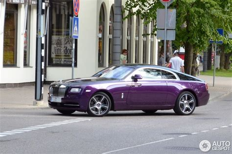 purple rolls royce purple rolls royce wraith spotted in latvia