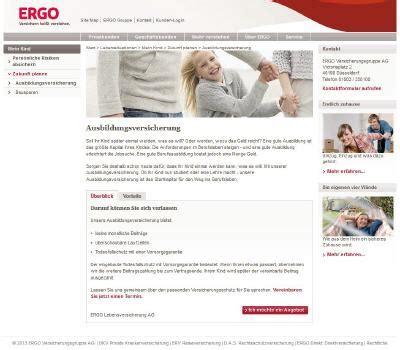 Versicherung Auto Unter 23 by Ergo Ausbildungsversicherung Sinnvoll