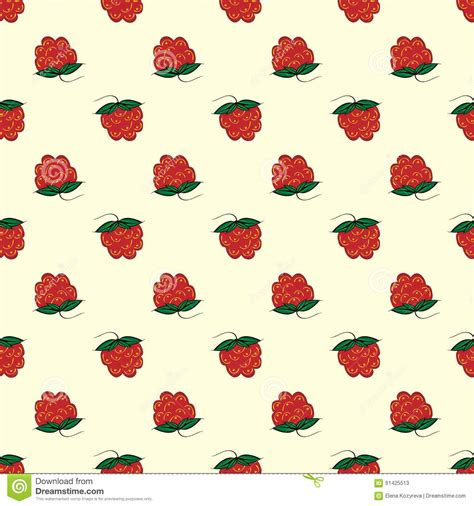 seamless pattern nature berry raspberry seamless pattern nature background stock