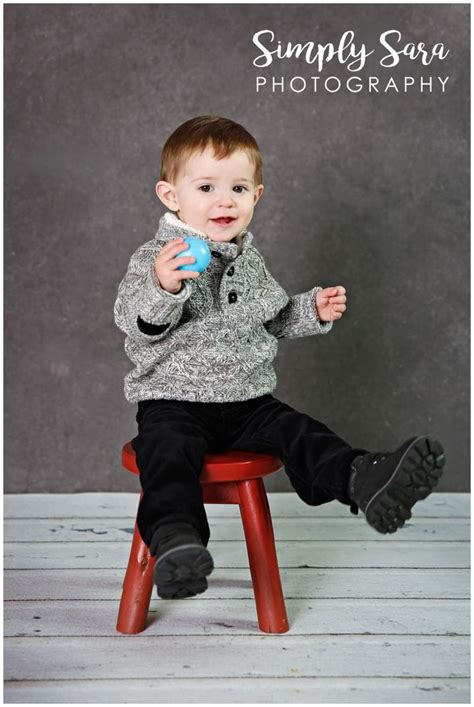 1 Year Stool by 1 Year Boy Photo Shoot Ideas Poses Indoor Session