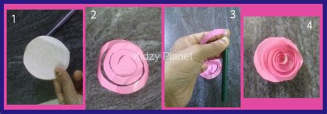 How To Make Easy Paper Roses Step By Step - how to make 3d paper flowers roses step by step kidzy planet