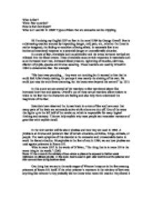 1984 Essay Outline Presentation by Iop Speech Hi Im Doing My Iop On Fear In The Novel 1984 By George Orwell Fear Is A