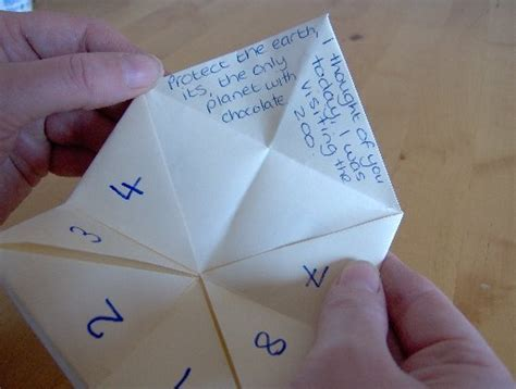 How To Make A Paper Things - fortune teller quotes quotesgram