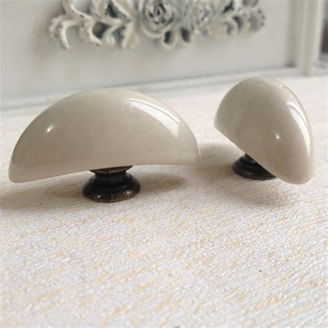 rustic antique moon ceramic kitchen cabinet knobs and