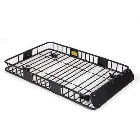 Roofrack Universal 64 quot universal black roof rack cargo carrier w extension