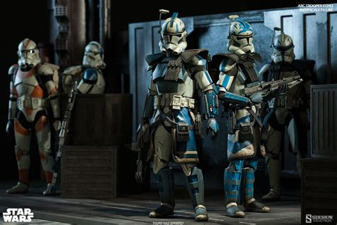 clone trooper wall display armor echo fives you re both officially being made arc troopers sideshow collectibles
