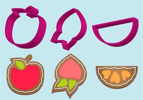 x fruit cutter cookie cutter fruit vector set free vector
