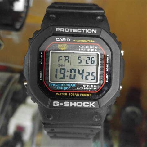 Casio G Shock Tali Gshock Dw 5000 Dw5000 Dw 5000 Rubber Hitam casio g shock dw 5000 project team tough 1545 back