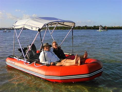 inflatable boat vs aluminum 13 saturn dinghy tender sport boat sd 385