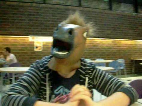 Horse Head Mask Meme - horse mask youtube