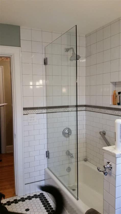 half glass shower door for bathtub bathtub with glass half wall