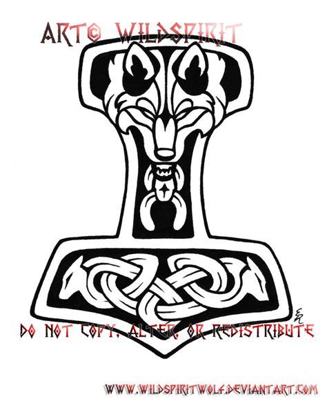 thor s hammer tattoo designs wolven thor s hammer by wildspiritwolf on deviantart