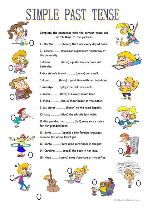 simple past tense worksheet free esl printable