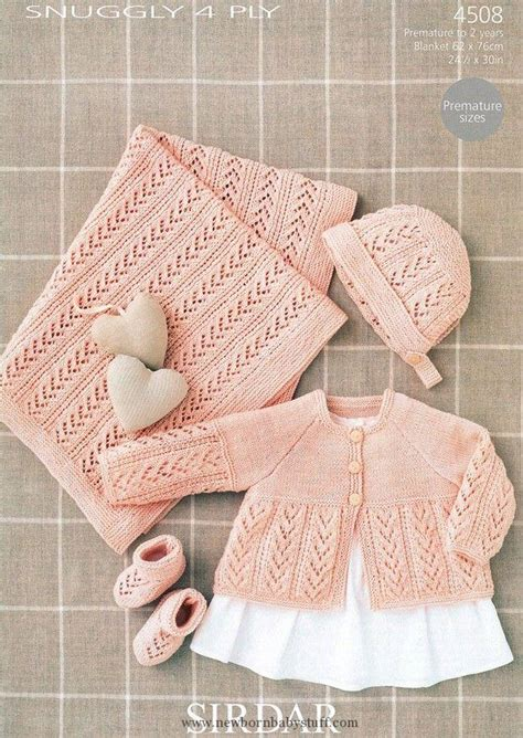 sirdar 4 ply baby knitting patterns baby knitting patterns coat bonnet booties and blanket