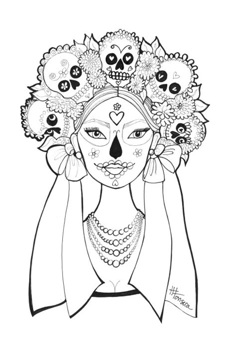 halloween coloring pages day of the dead free printable day of the dead coloring pages by heather