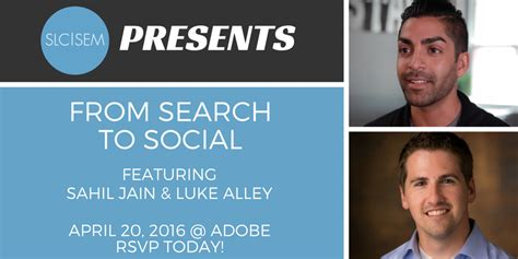 april si鑒e social slcsem presents from search to social april 20th 2016