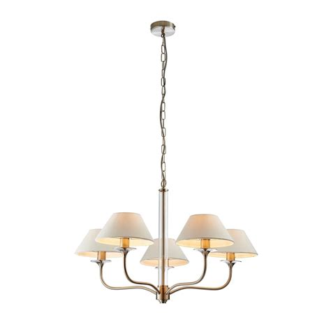 Endon Ceiling Lights Endon Lighting Kingston 5 Light Ceiling Fitting In Satin Nickel Finish Lighting Type From