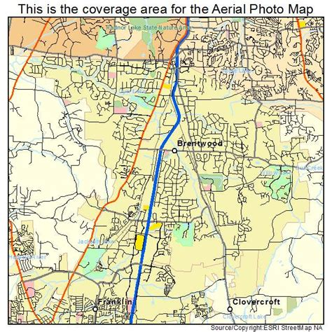 brentwood map aerial photography map of brentwood tn tennessee