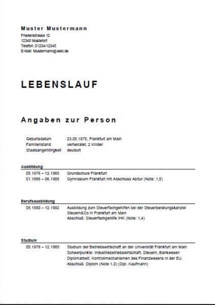 Muster Für Lebenslauf 2016 by Lebenslauf Hotelfachfrau Muster Natuurdrogistanneke