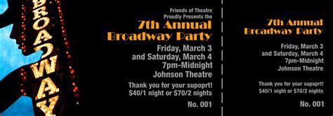 Broadway Show Ticket Template Broadway Event Ticket