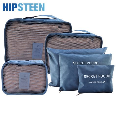 Pattern Travel Set 6 In 1 Bags In Bag Organizer Tas Set Dalam Kope hipsteen 6pcs set waterproof travel storage bags packing