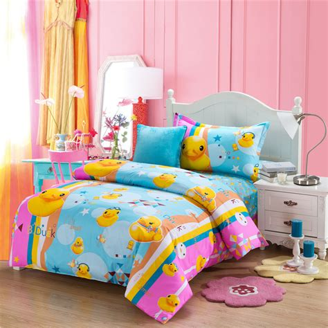 rubber duck comforters and quilts kids bedding set anime