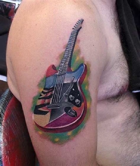 electric guitar tattoo designs 60 inspirational guitar tattoos nenuno creative