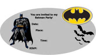 Batman Invitation Template by Batman Invitations Template Best Template Collection