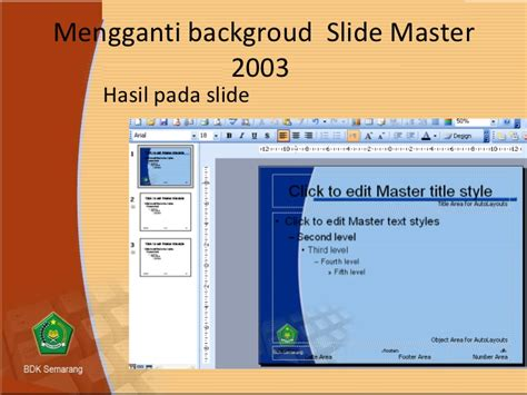 membuat powerpoint slide master tips membuat slide master template