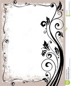 Ornate floral frame stock photos image 33034923