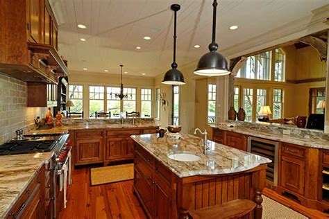 small house large kitchen plan house plans