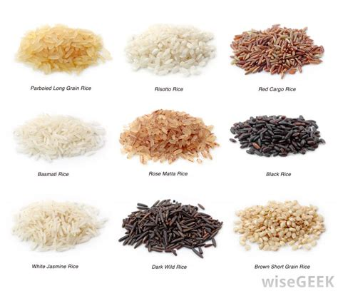 whole grains types what are the different types of rice with pictures
