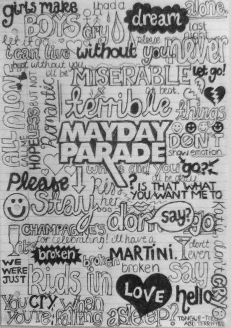 band drawings with quotes quotesgram quotes mayday parade drawings quotesgram