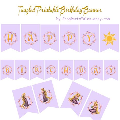 tangled printable party decorations items similar to tangled disney princess rapunzel birthday