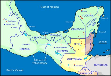 map southern mexico southern mexico map