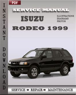 best car repair manuals 2000 isuzu trooper engine control isuzu rodeo 1999 service repair servicerepairmanualdownload com