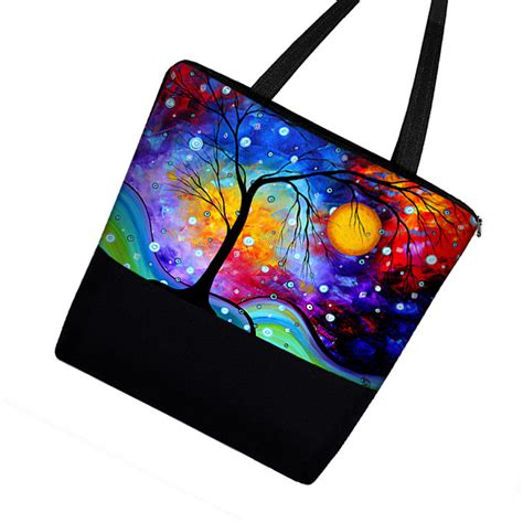 Big Printed Canvas Tote Bag Tas Kanvas Motif 1 madart large tote bag purse in winter sparkle zippered